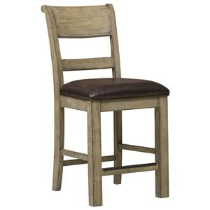 Belfort Select Ivy City Wood Back Counter Stool
