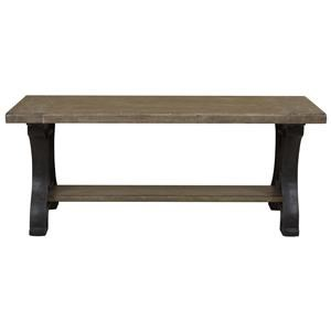 Belfort Select Ivy City Dining Bench with Metal Base