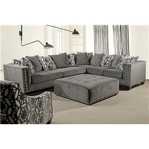 Del Sol Exclusive Roxanne 2pc Sectional Ash