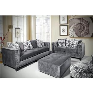 Del Sol Exclusive Roxanne 2pc Sofa and Love Seat