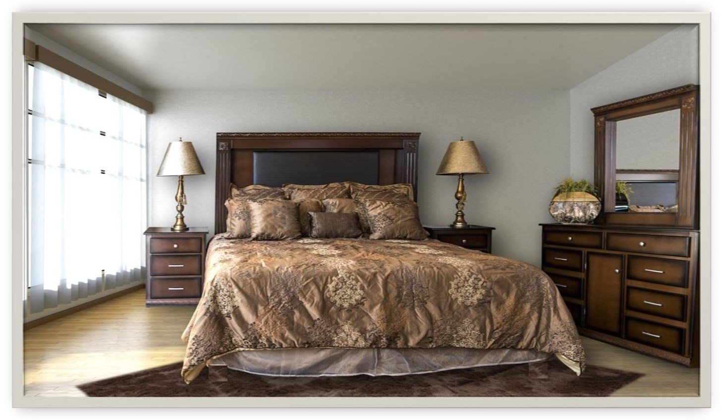 MALAGA MALAGA 5pc Bedroom Group by Phoenix Custom Furniture at Del Sol Furniture