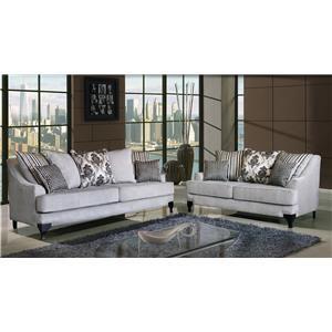 Del Sol Exclusive OSLO 2pc Sofa and Love Seat