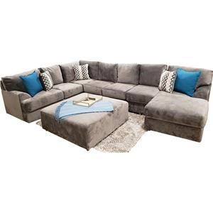 Shelie 3pc 7 Seats Sectional Jamba Granite