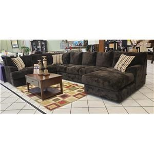 Shelie 3pc Sectional Chocolate