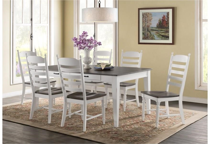 """""""50 Years"""" In Business 7 Piece Dining Set by Story & Lee at Story & Lee Furniture"""