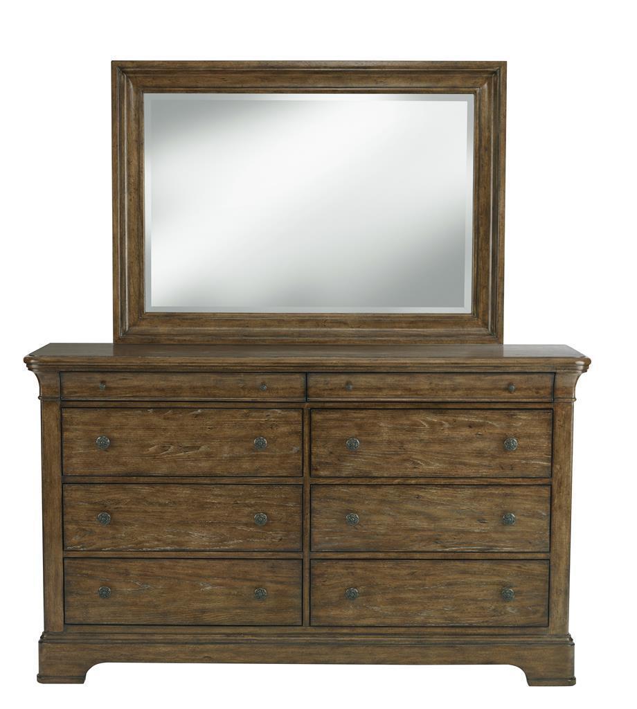 Belfort Select Virginia Mill 8 Drawer Dresser & Rectangular Mirror - Item Number: 8854-010+030