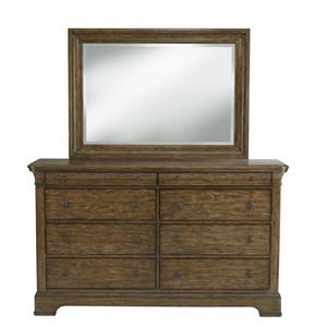 Belfort Select Virginia Mill 8 Drawer Dresser & Rectangular Mirror