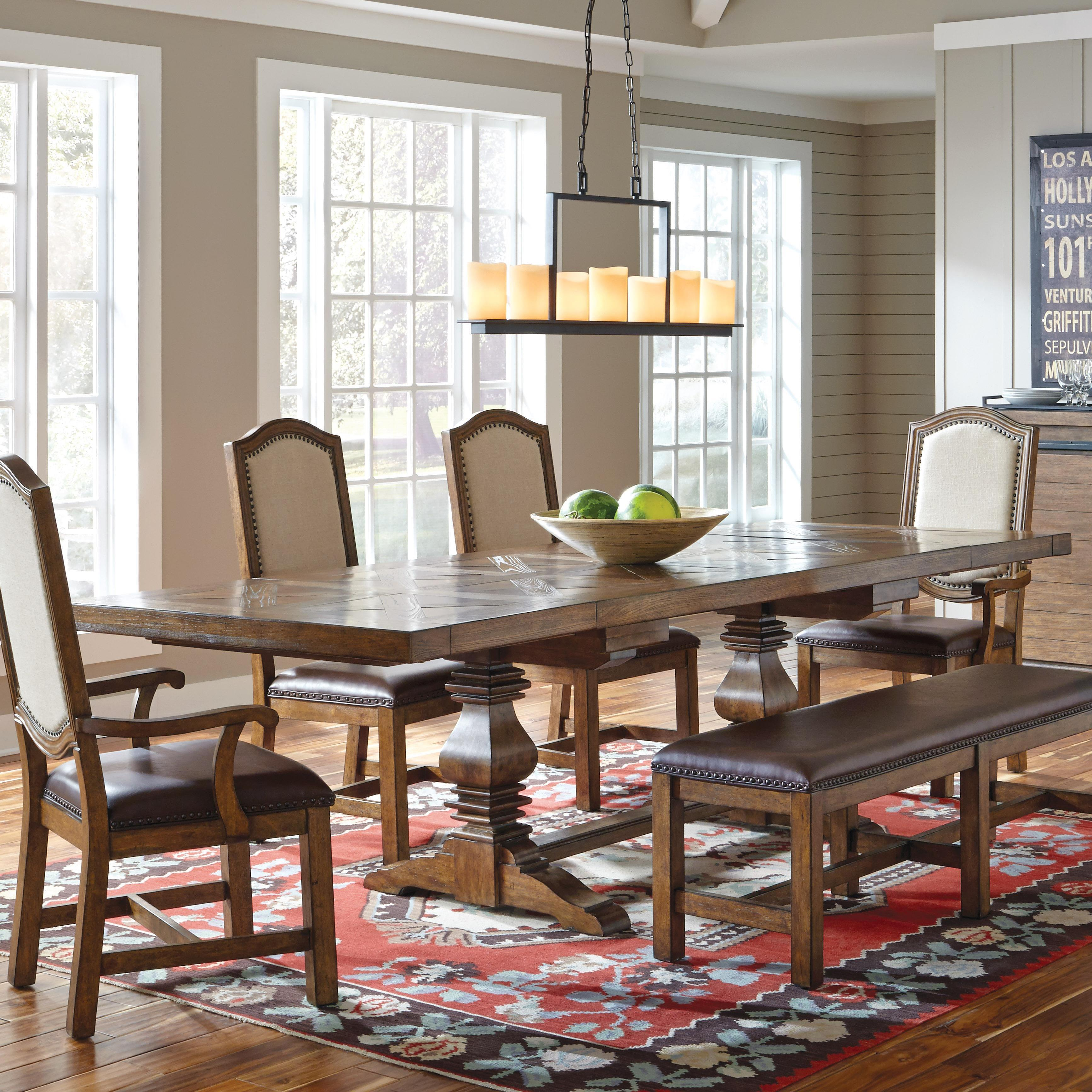 Belfort Select Virginia Mill Double Pedestal Dining Table - Item Number: 8854-131B-1+131A-3