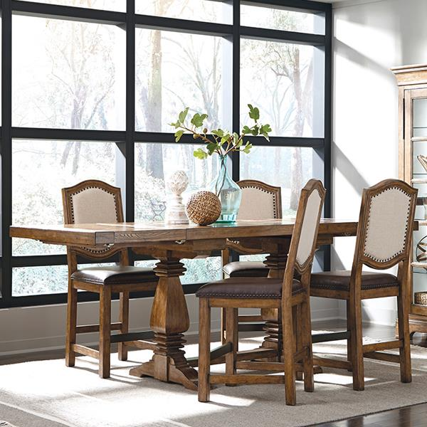Belfort Select Virginia Mill Double Pedestal Gathering Table - Item Number: 8854-136B-1+136A-3