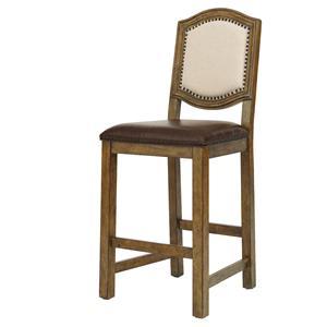 Belfort Select Virginia Mill Wood Frame Barstool