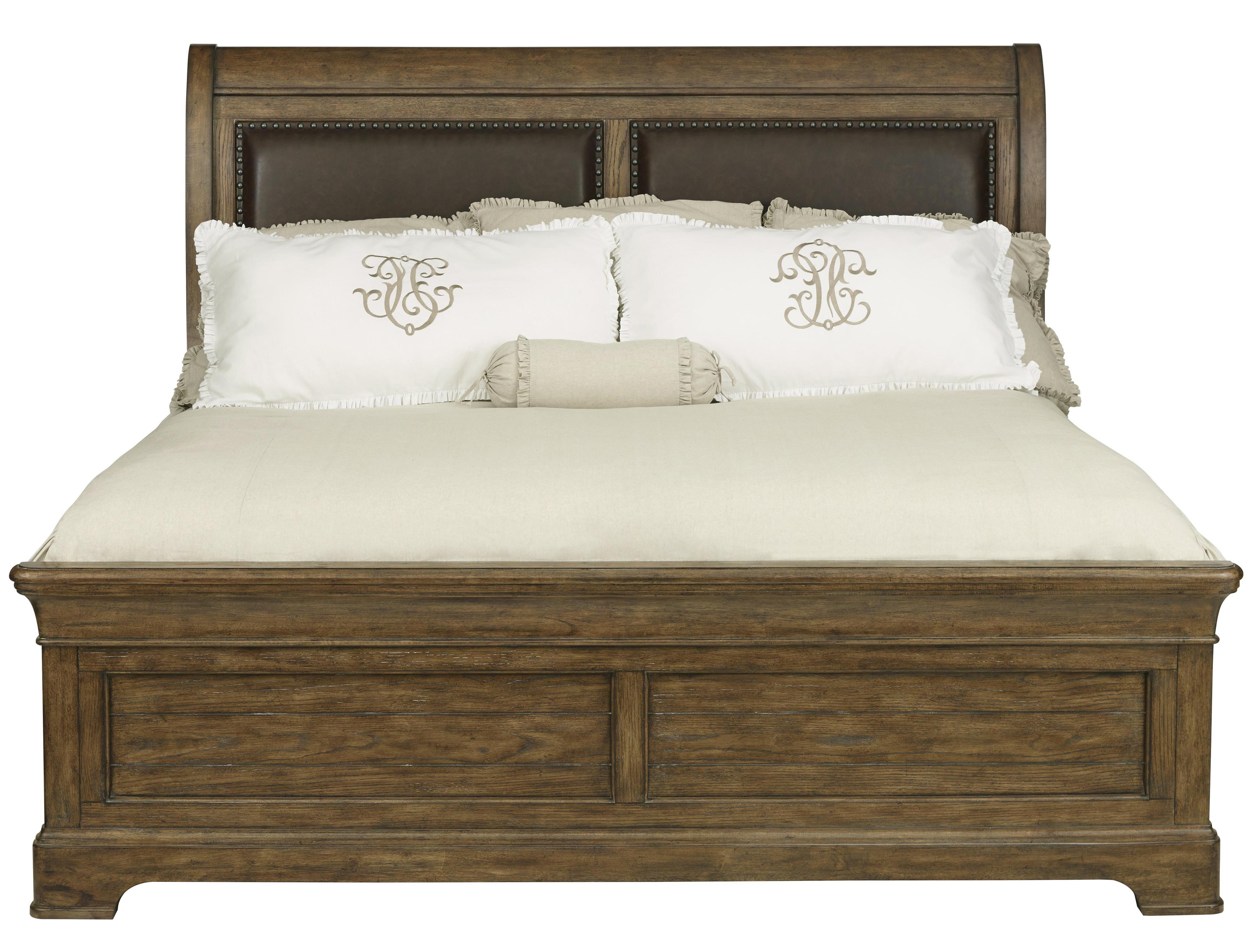Belfort Select Virginia Mill King Sleigh Upholstered Bed - Item Number: 8854-274+271+400