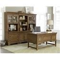 Belfort Select Virginia Mill Desk, Bookcase, and Chair - Item Number: 8854-912+925+922B+4B+6B+6T+2x2T