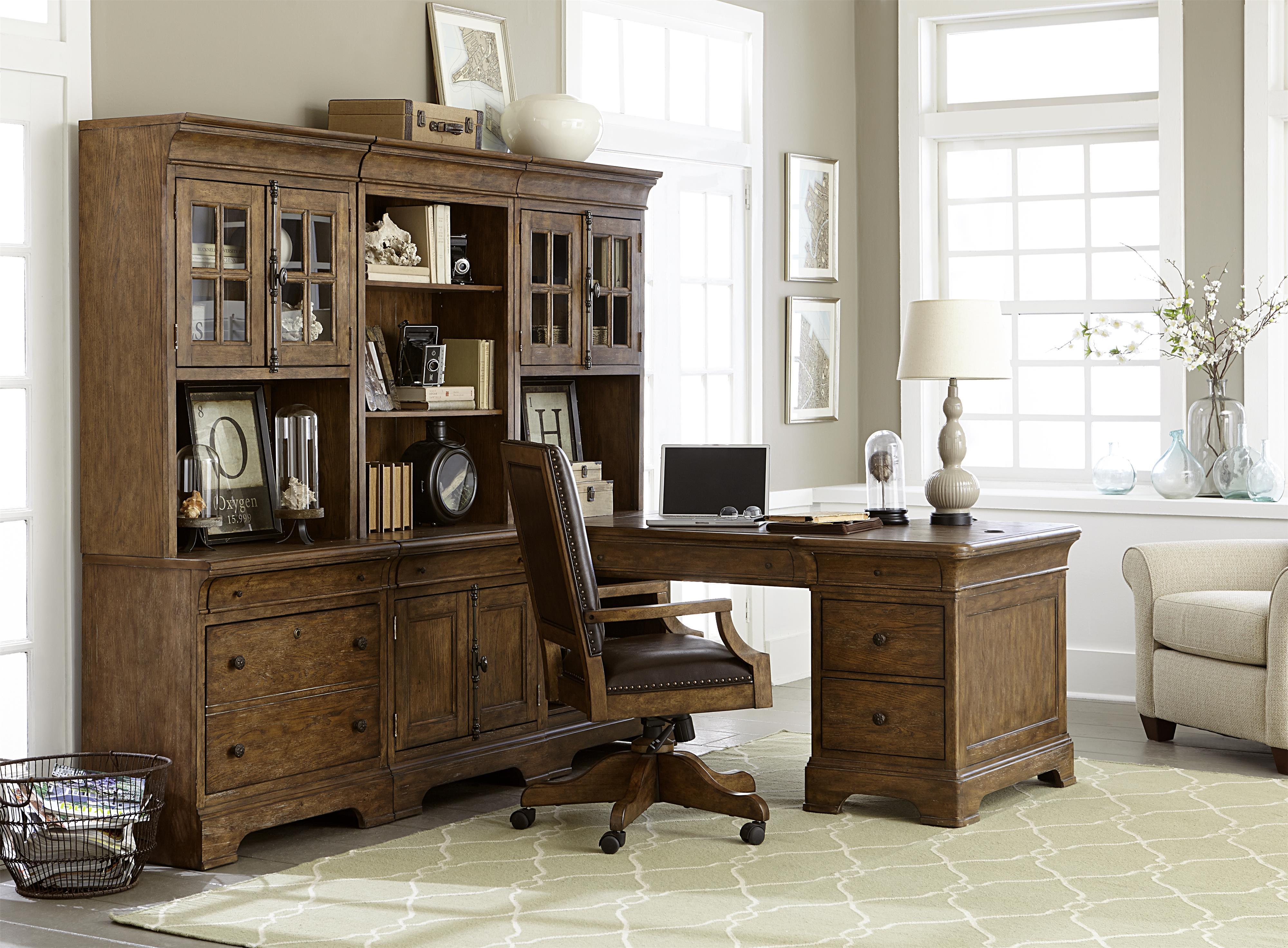 Belfort Select Virginia Mill Desk and Hutch - Item Number: 8854-924PR+2B+4B+6B+6T+2x2T