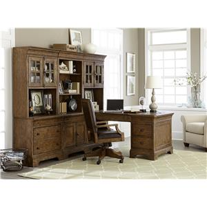 Belfort Select Virginia Mill Desk and Hutch