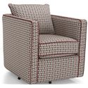 Decor-Rest 2050 Swivel Chair w/ Loose Back Cushion