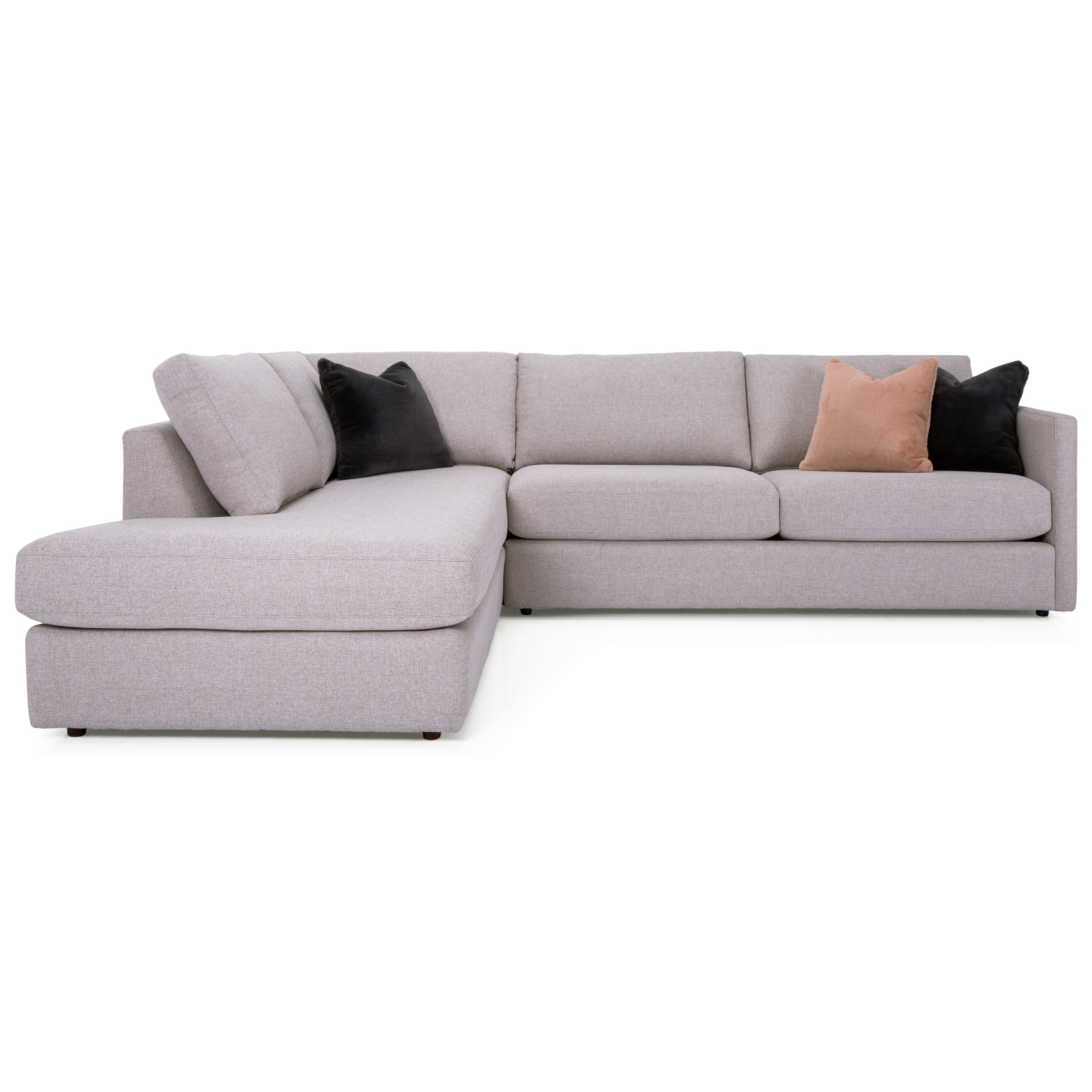 2068 Sectional with Chaise by Taelor Designs at Bennett's Furniture and Mattresses