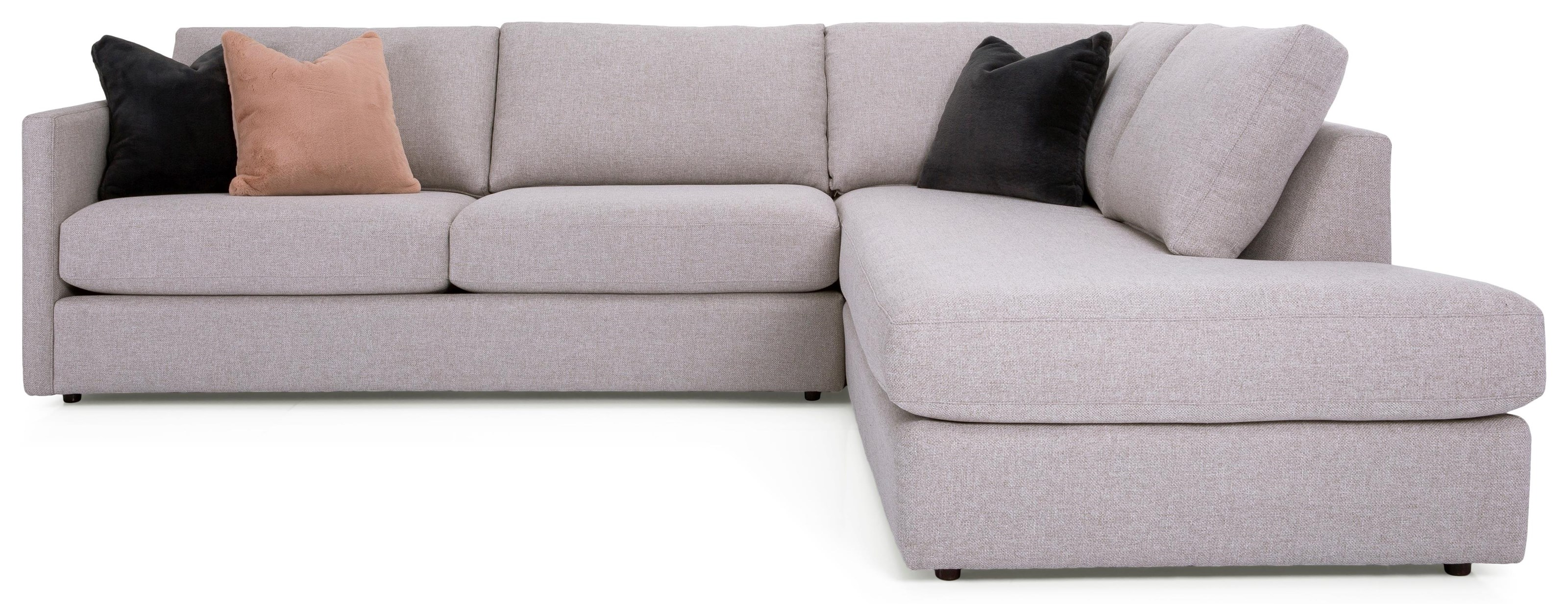 Tess Sectional with Chaise by Taelor Designs at Bennett's Furniture and Mattresses