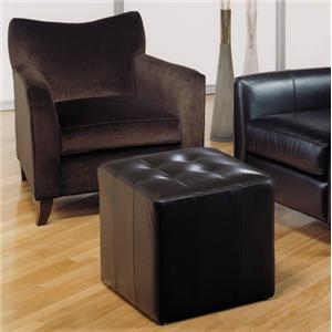 Taelor Designs 2242 Contemporary Chair and Ottoman