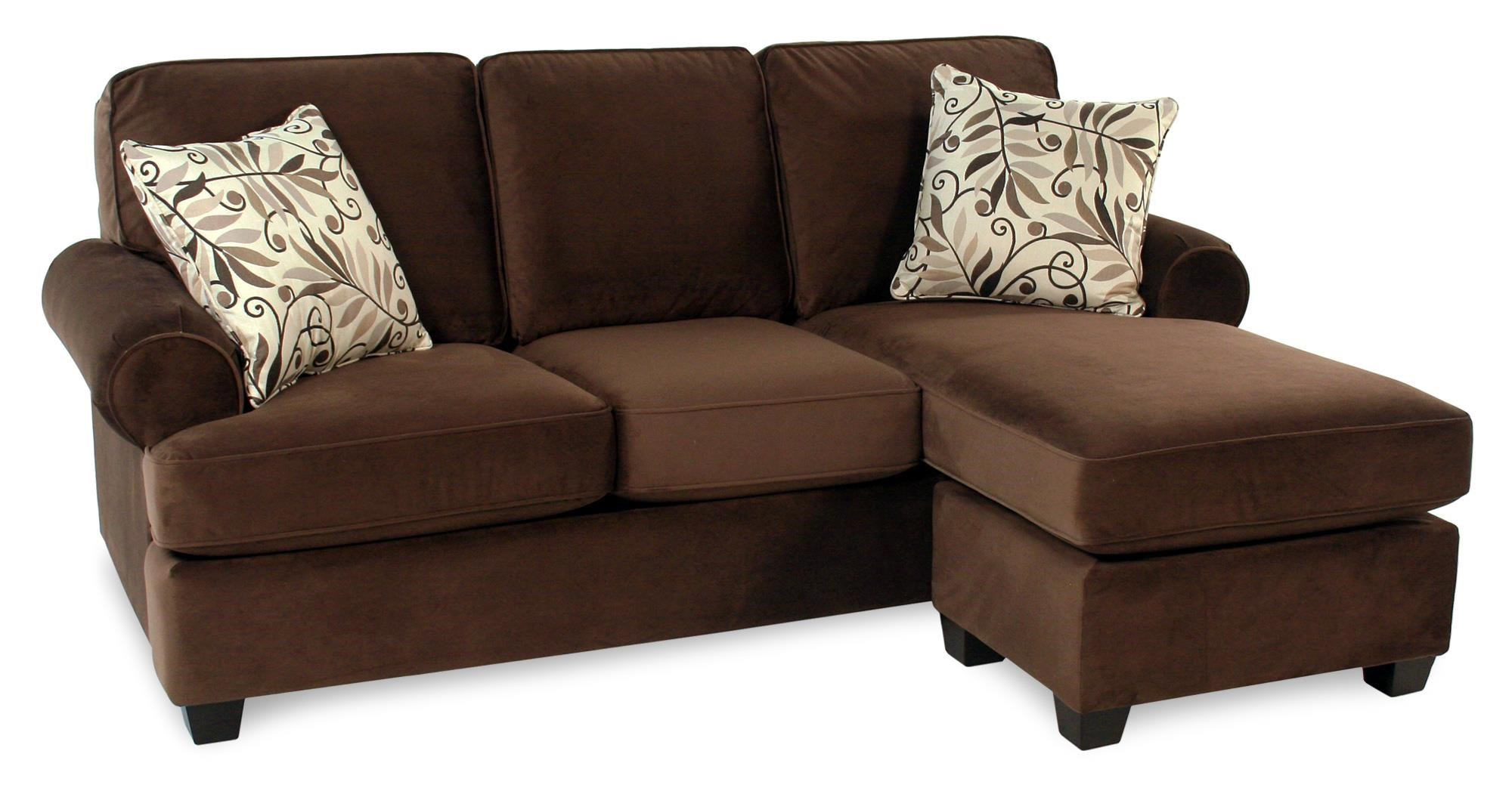 Decor-Rest Hot Chocolate Sofa w/ Reversible Chaise - Item Number: 2285SRC-HOTCHOCO