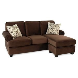 Decor-Rest Hot Chocolate Sofa w/ Reversible Chaise