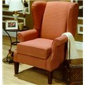 Decor-Rest 2290 Upholstered Wing Chair with Rolled Arms - Item Number: 2290CH