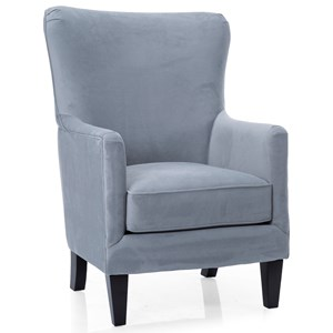 Contemporary Wing Back Chair