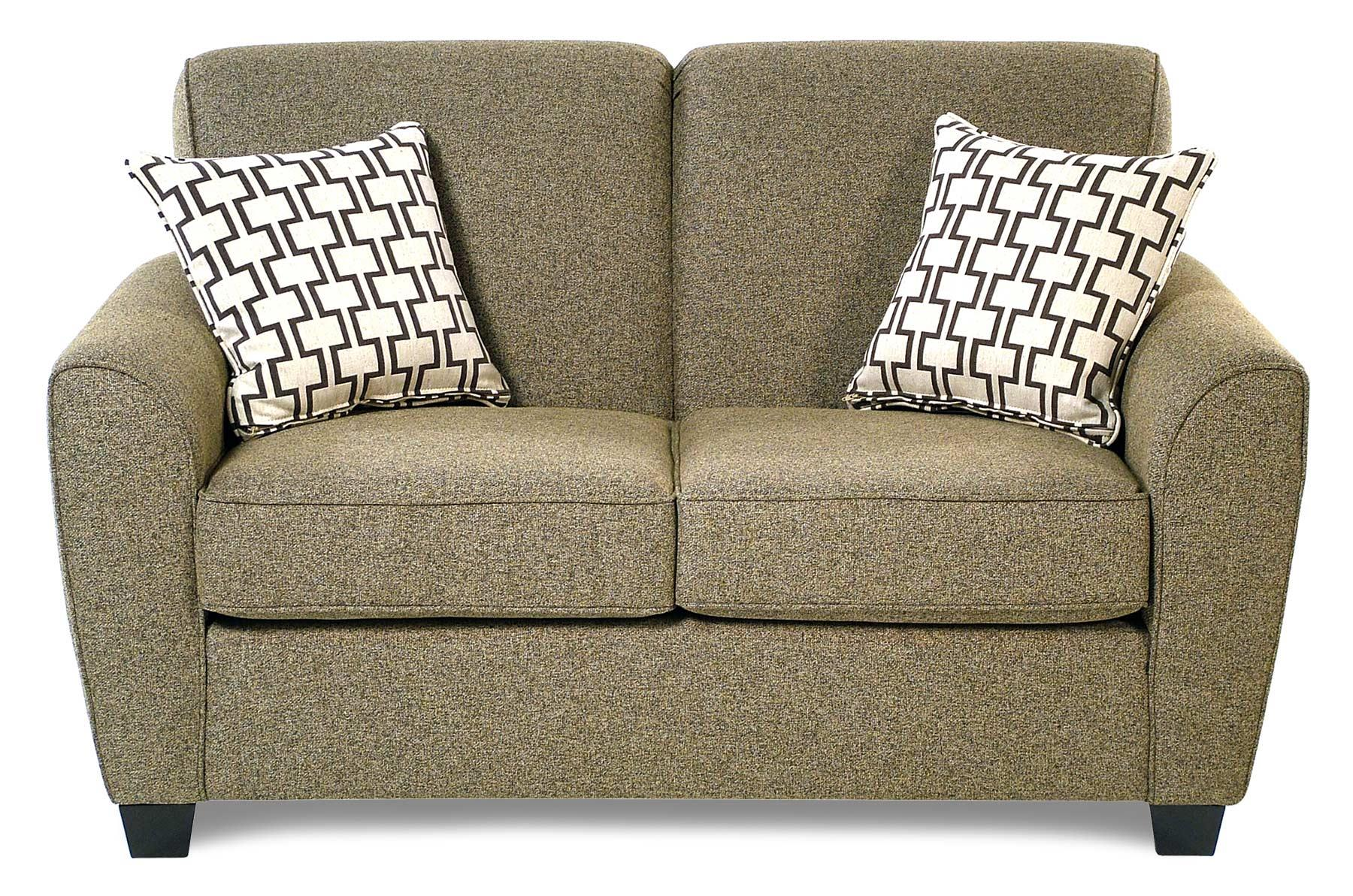 Decor-Rest Balance Transitional Loveseat w/ Flared Arms - Item Number: 2404-LS-ESP