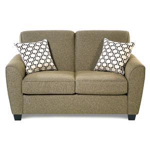 Decor-Rest Balance Transitional Loveseat w/ Flared Arms