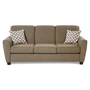 Transitional Sofa w/ Flared Arms