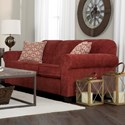 Decor-Rest 2455 Contemporary Sofa - Item Number: 2455 SOFA ALIJ RED