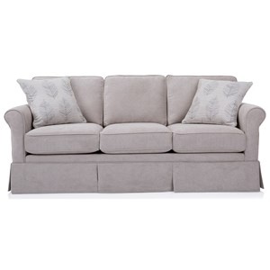 Transitional Small Scale Skirted Sofa
