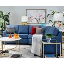 Decor-Rest 2541 Sectional Sofa - Item Number: 2541-07+2514+2541-06
