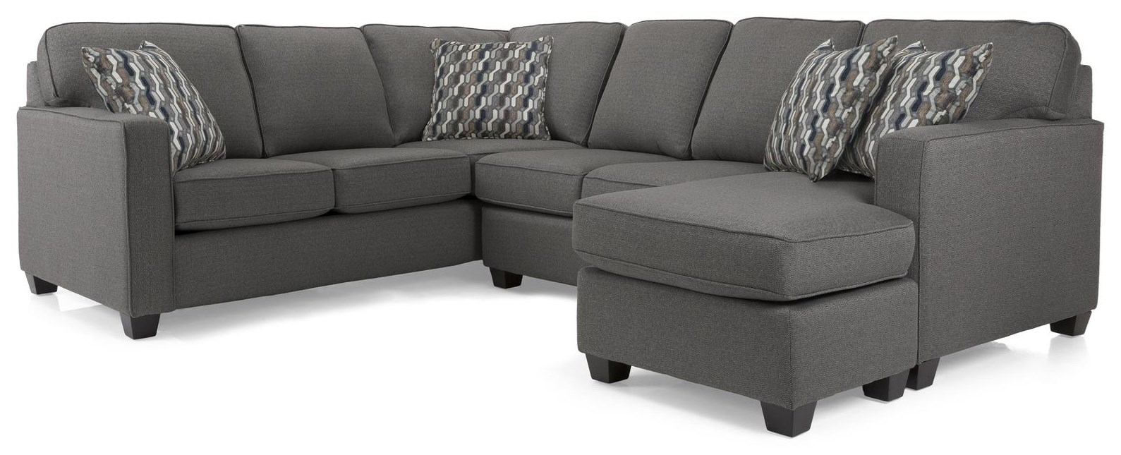 2541 Rico Grey Sectional by Decor-Rest at Stoney Creek Furniture