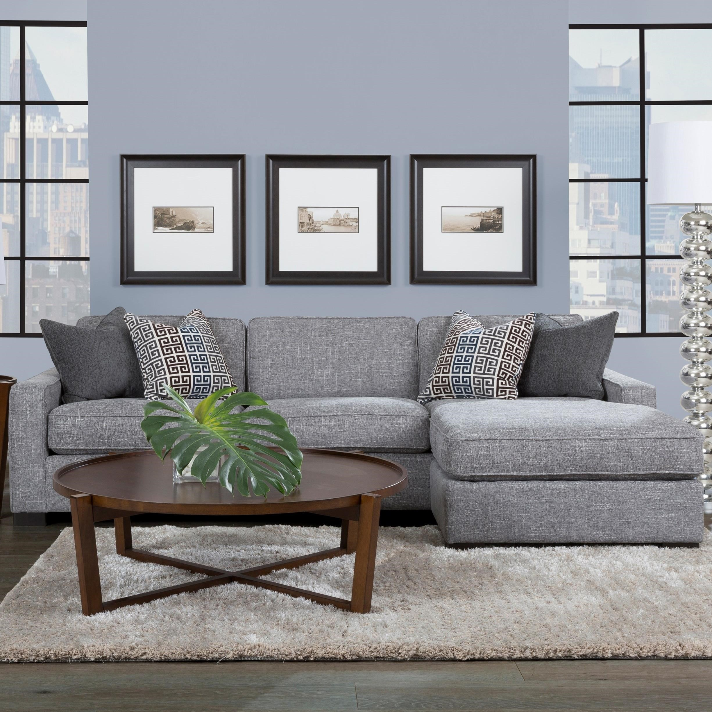 """2591 102"""" Chaise Sofa by Decor-Rest at Reid's Furniture"""