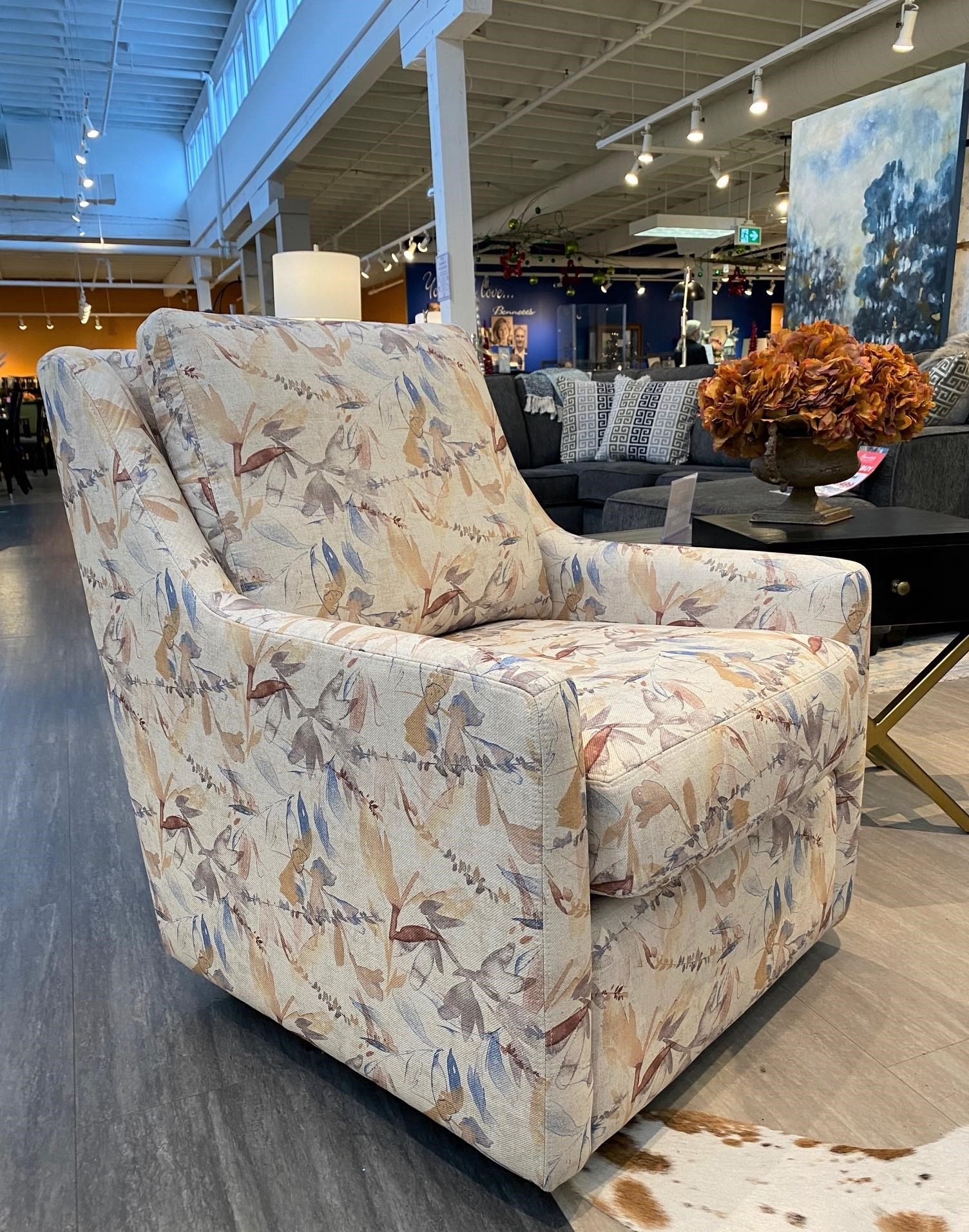 Emma Swivel Chair by Taelor Designs at Bennett's Furniture and Mattresses