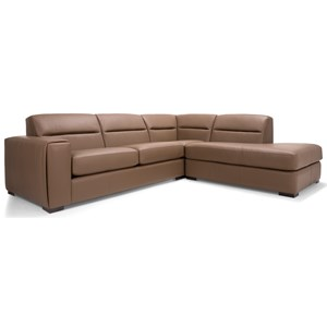 Decor-Rest 2656 - 3656 2 Pc Sectional Sofa w/ Right Facing Bumper