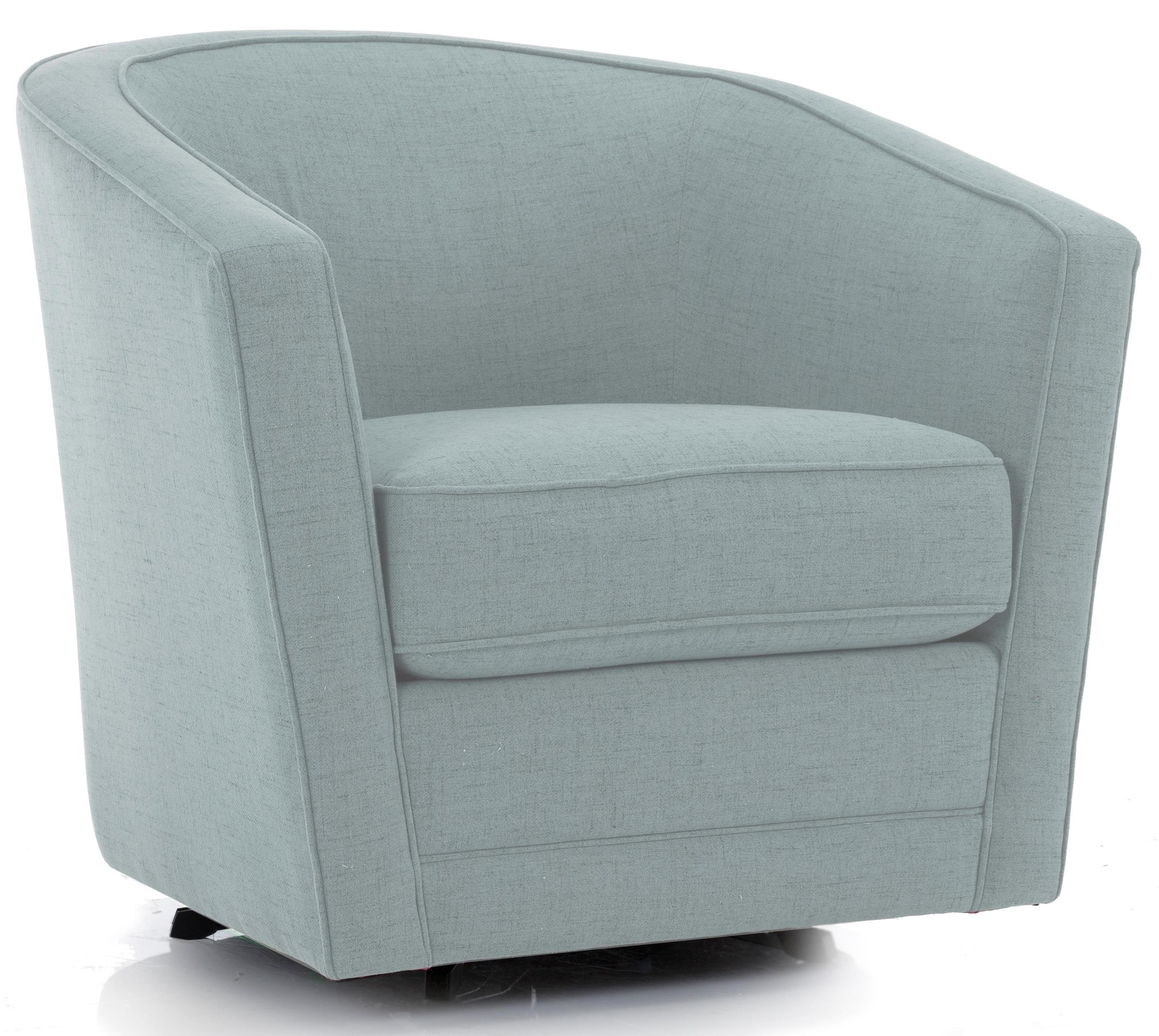 Decor-Rest 2693 Swivel Chair - Item Number: 2693 Swivel Chair-WOOL SKY
