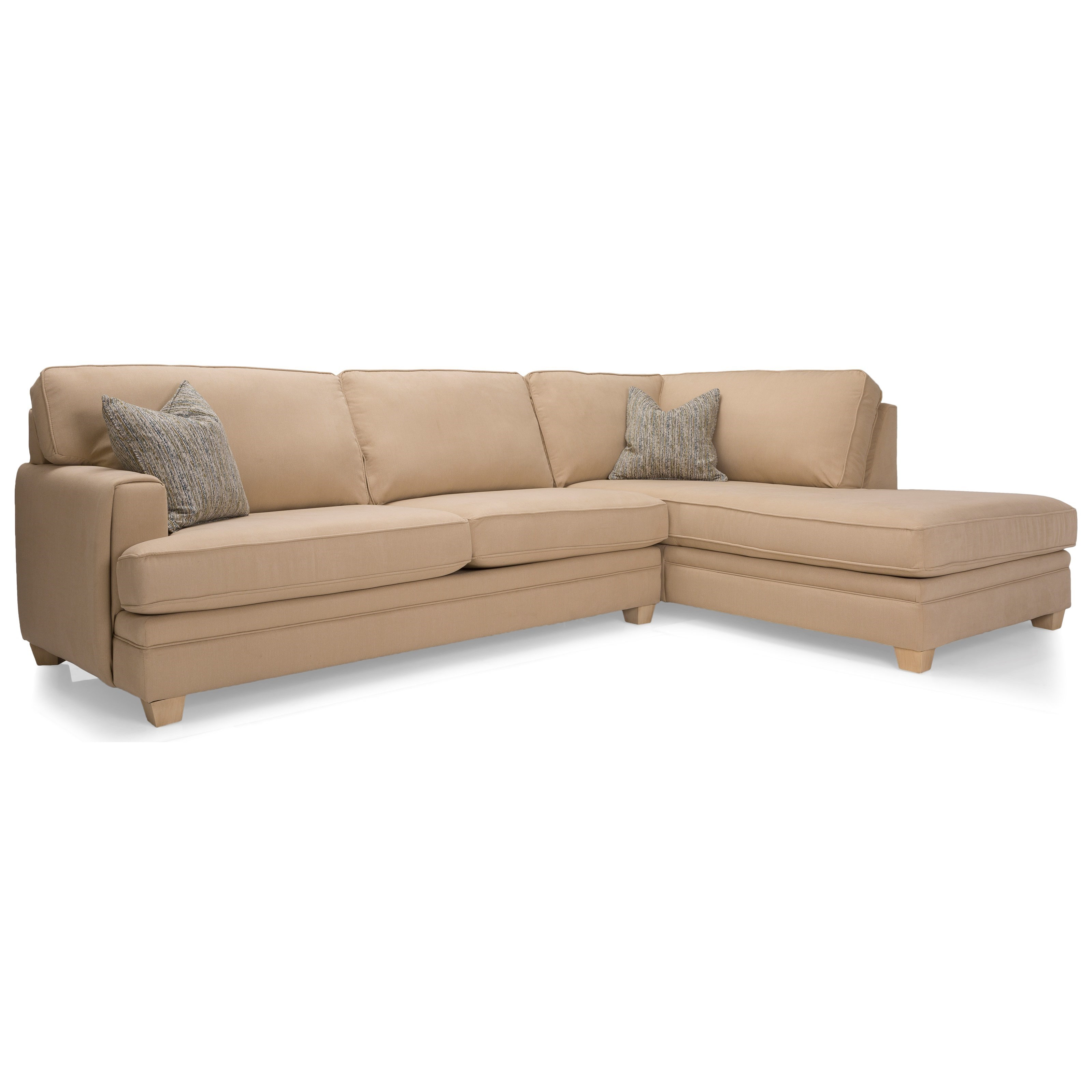 2697 Sectional Sofa by Decor-Rest at Upper Room Home Furnishings