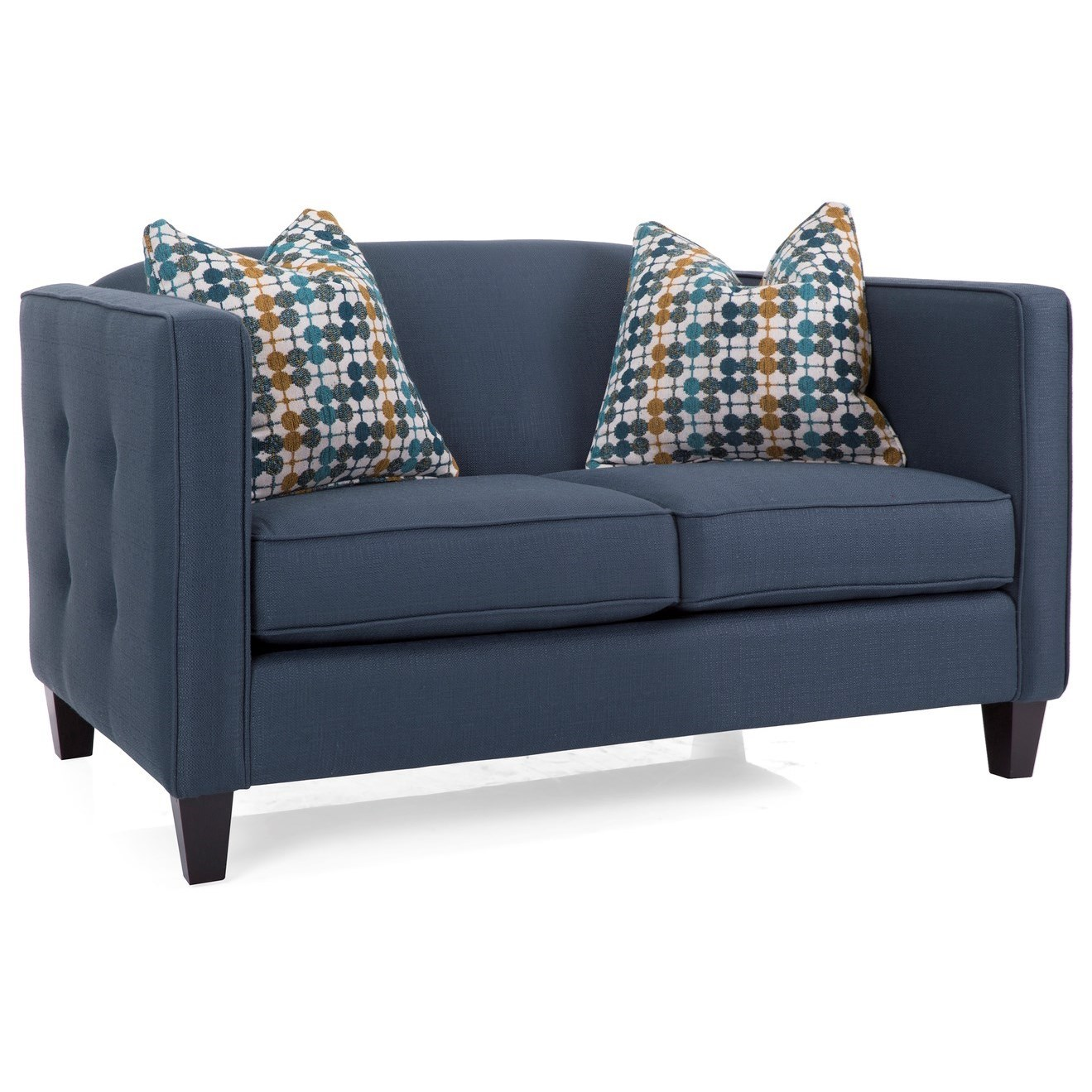 Fine Decor Rest 2700 Transitional Loveseat With Button Tufting On Andrewgaddart Wooden Chair Designs For Living Room Andrewgaddartcom