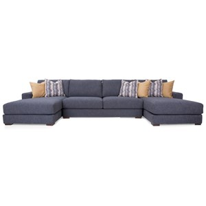 4-Seat Sectional Sofa with 2 Chaise Lounges