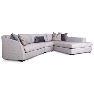 Decor-Rest 2703 3 Pc Sectional Sofa