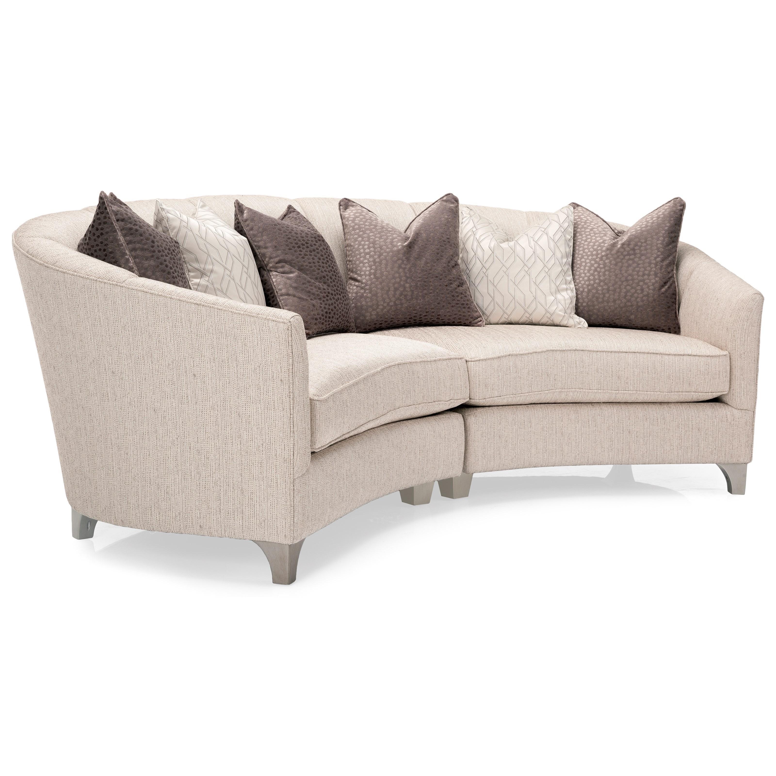 Decor-Rest 2784 2 Pc Sectional Sofa - Item Number: 2784-06 RHF LOVE+07 LHF LOVE-Cream