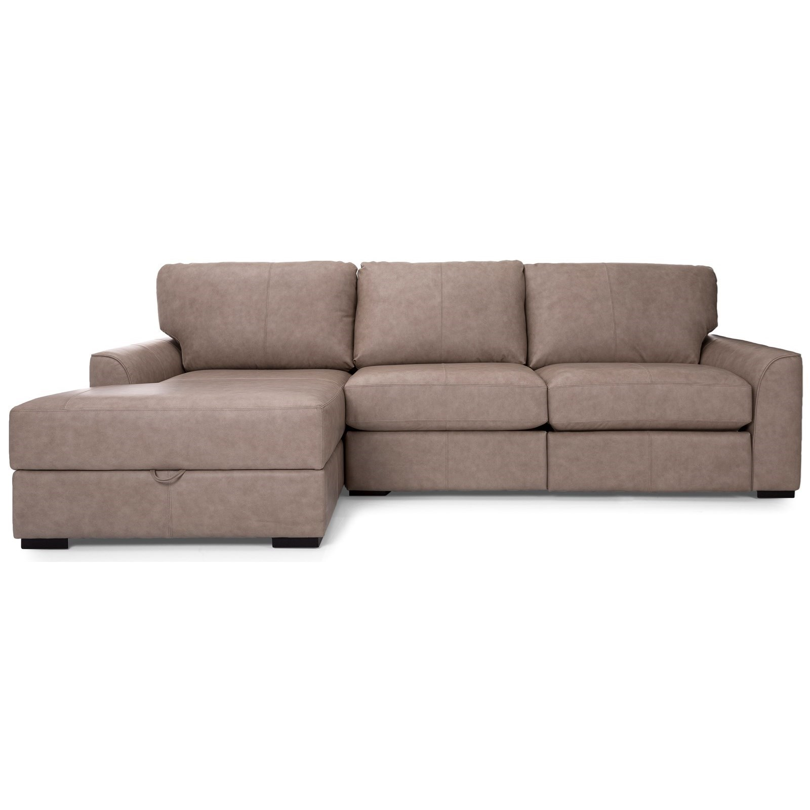 2786 Reclining Sofa Sectional with Chaise by Decor-Rest at Johnny Janosik