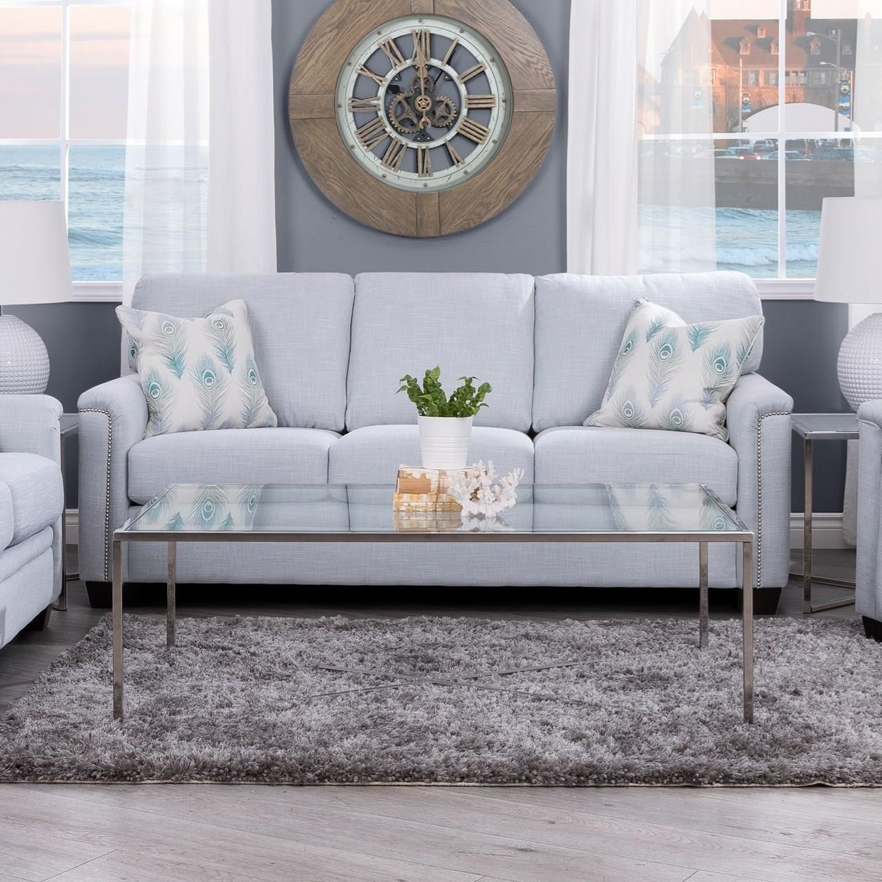 2877 Sofa by Decor-Rest at Reid's Furniture