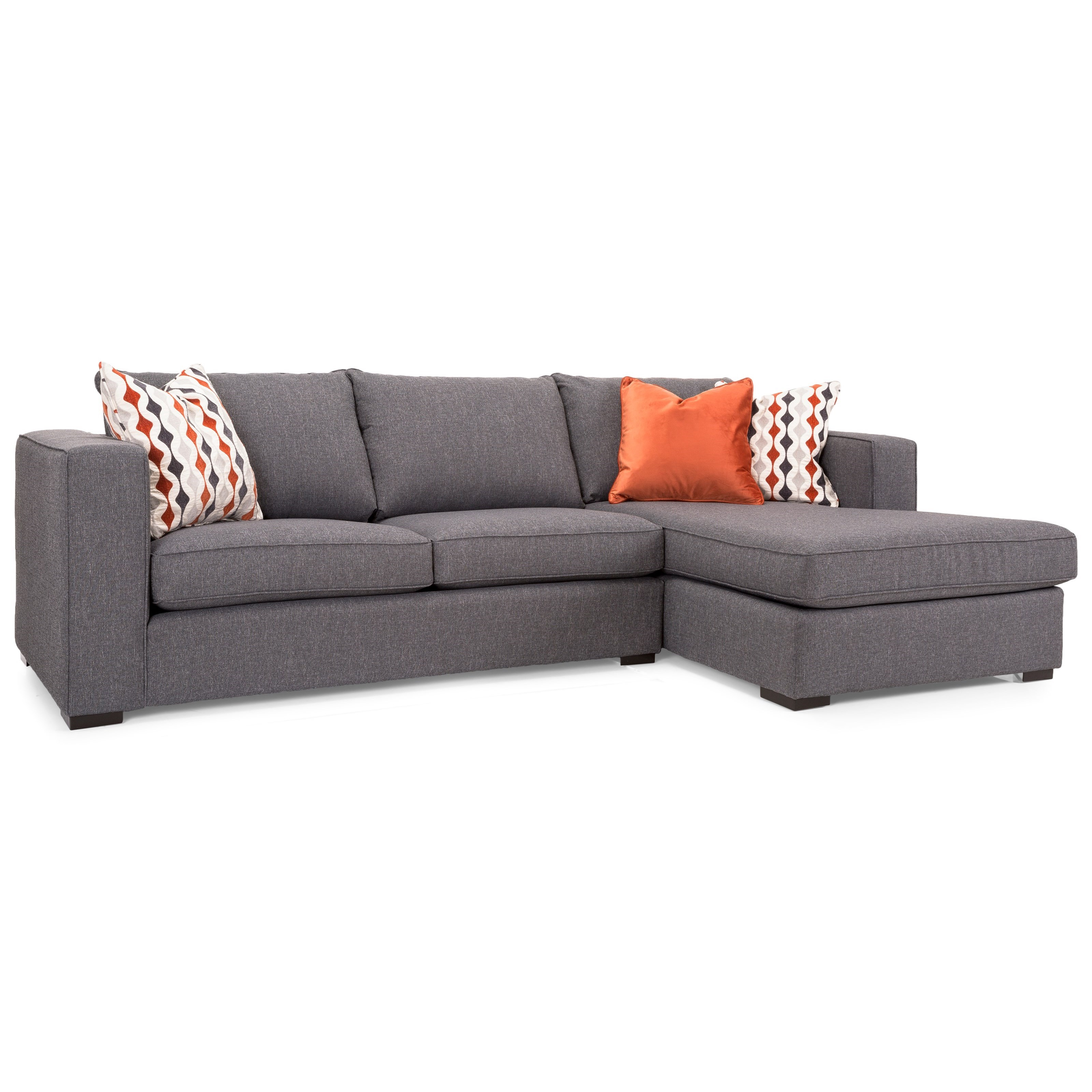 2900 Sofa with Chaise by Decor-Rest at Reid's Furniture