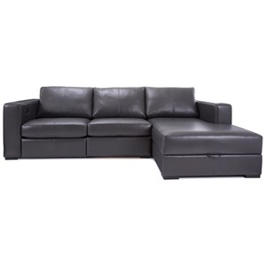 Contemporary Customizable Reclining Sofa with Chaise