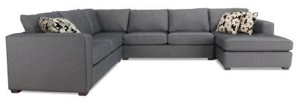 2900 Sectional Sofa by Decor-Rest at Reid's Furniture