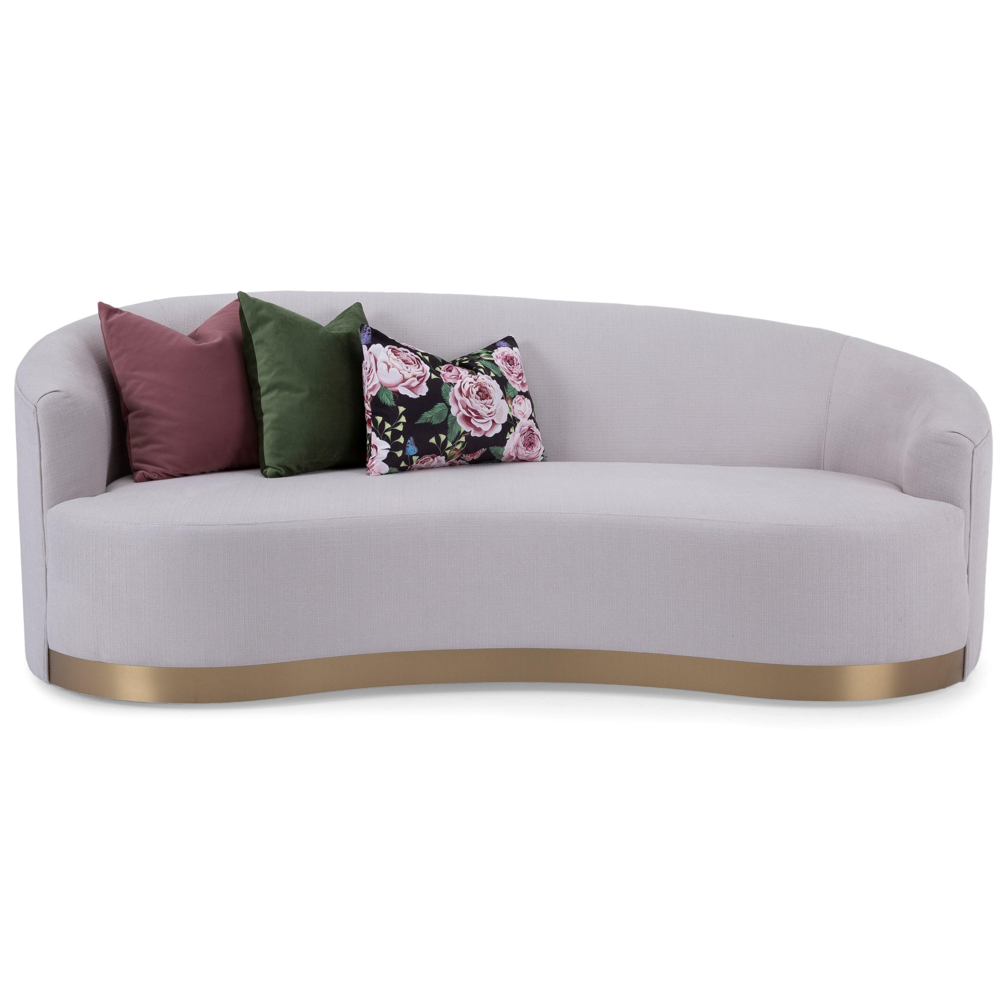 Asymmetrical Kidney Shape Sofa