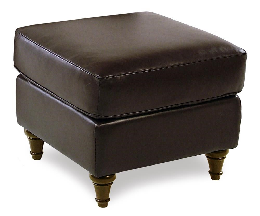 Decor-Rest Maxwell Leather Ottoman - Item Number: 3478OTT-CHESTNUT