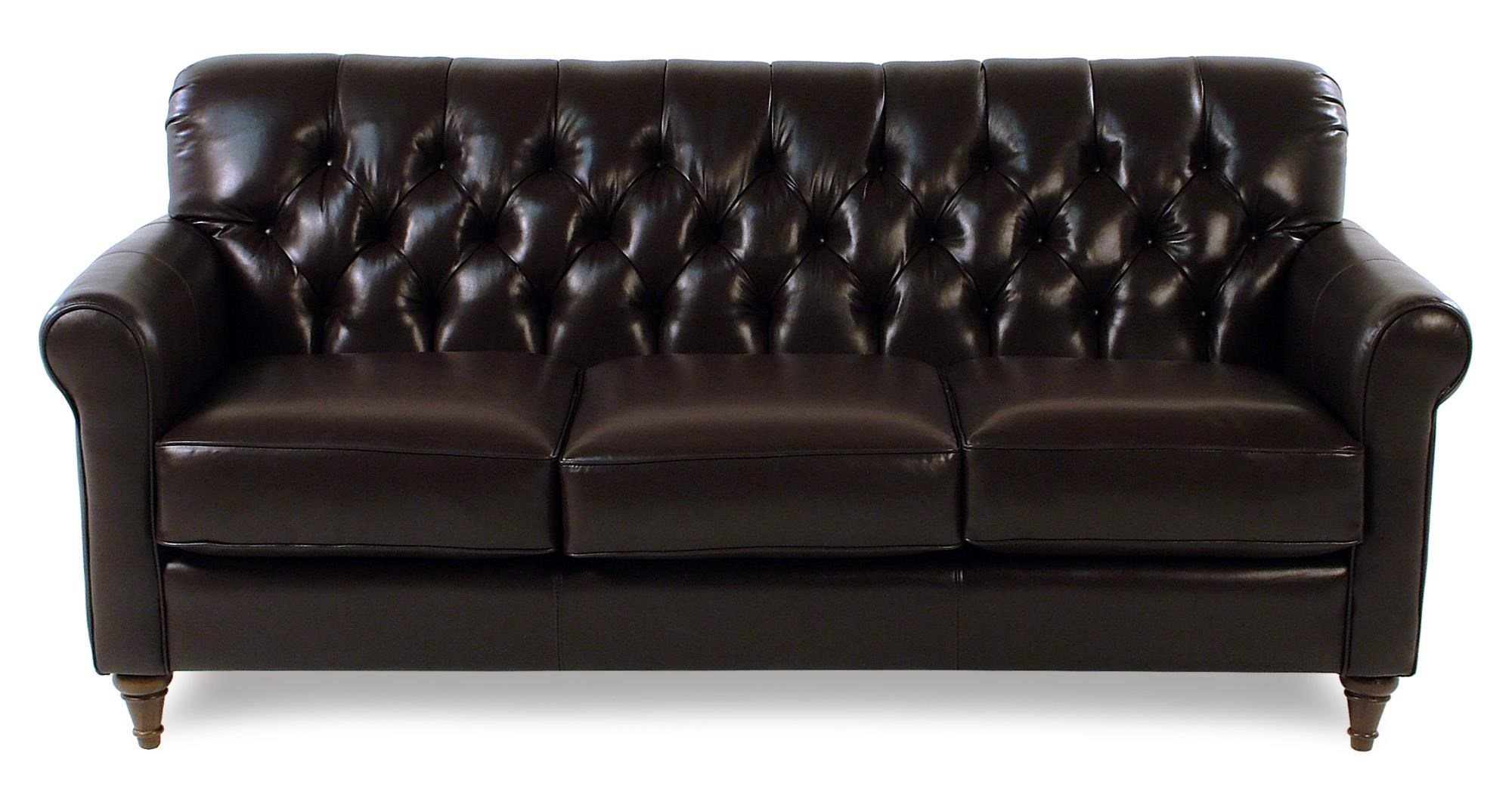 Decor-Rest Maxwell Tufted Leather Sofa - Item Number: 3478S-CHESTNUT